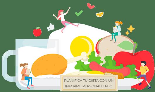 Planifica tu dieta con un informe personalizado